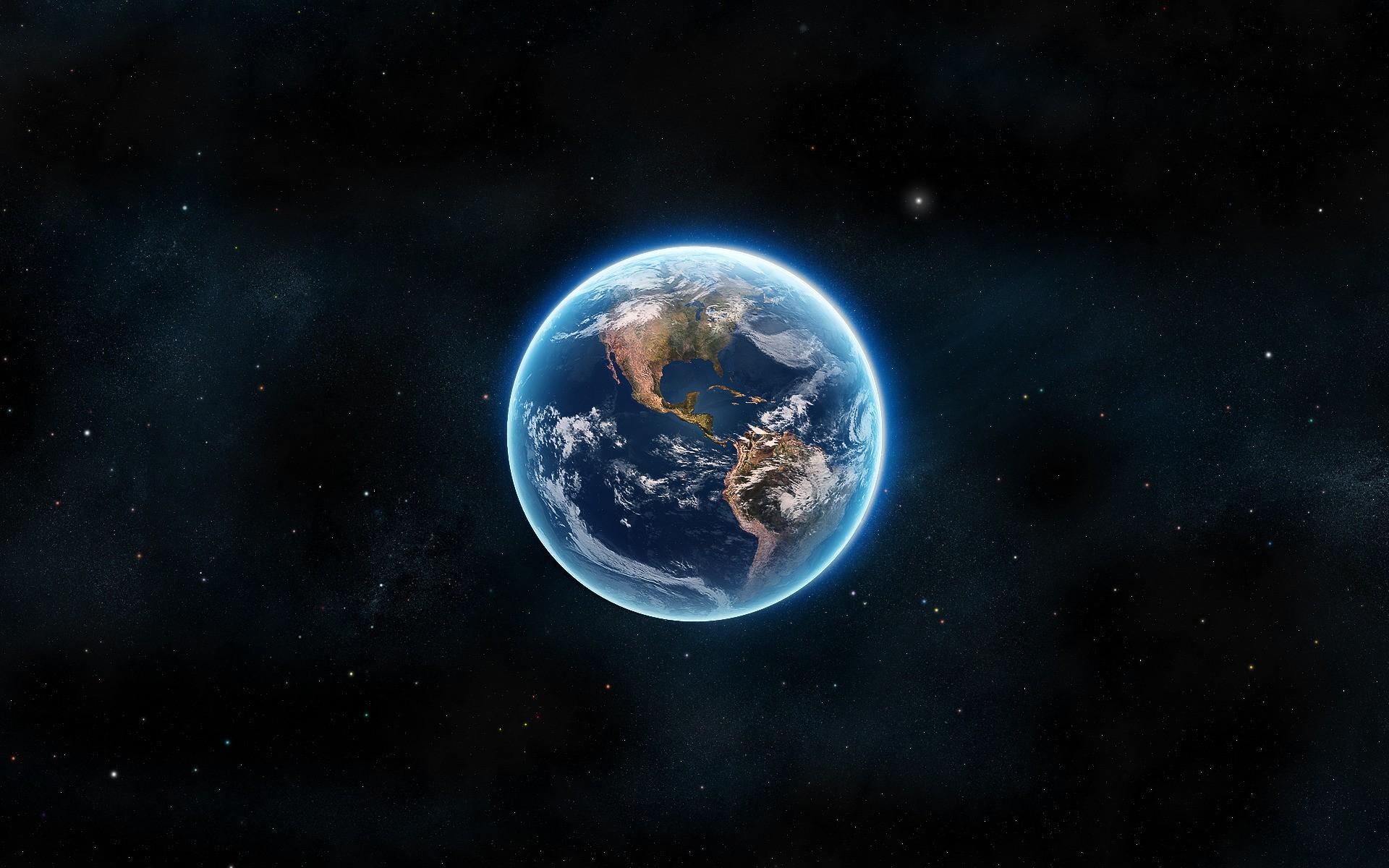 планета земля в космосе в рисунках