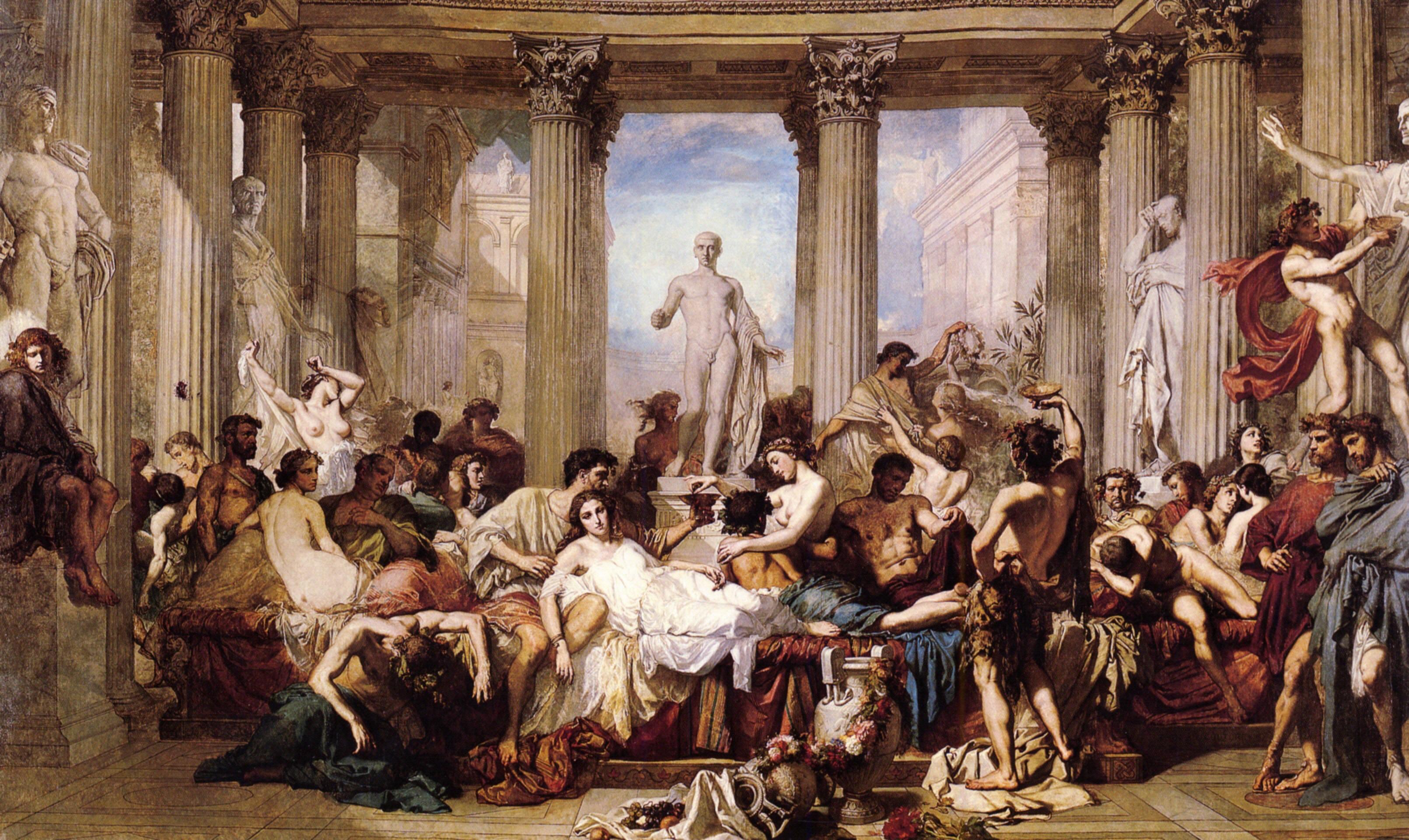 Title. картины, классический, Томас Couture, Римляне в упадок империи - обо