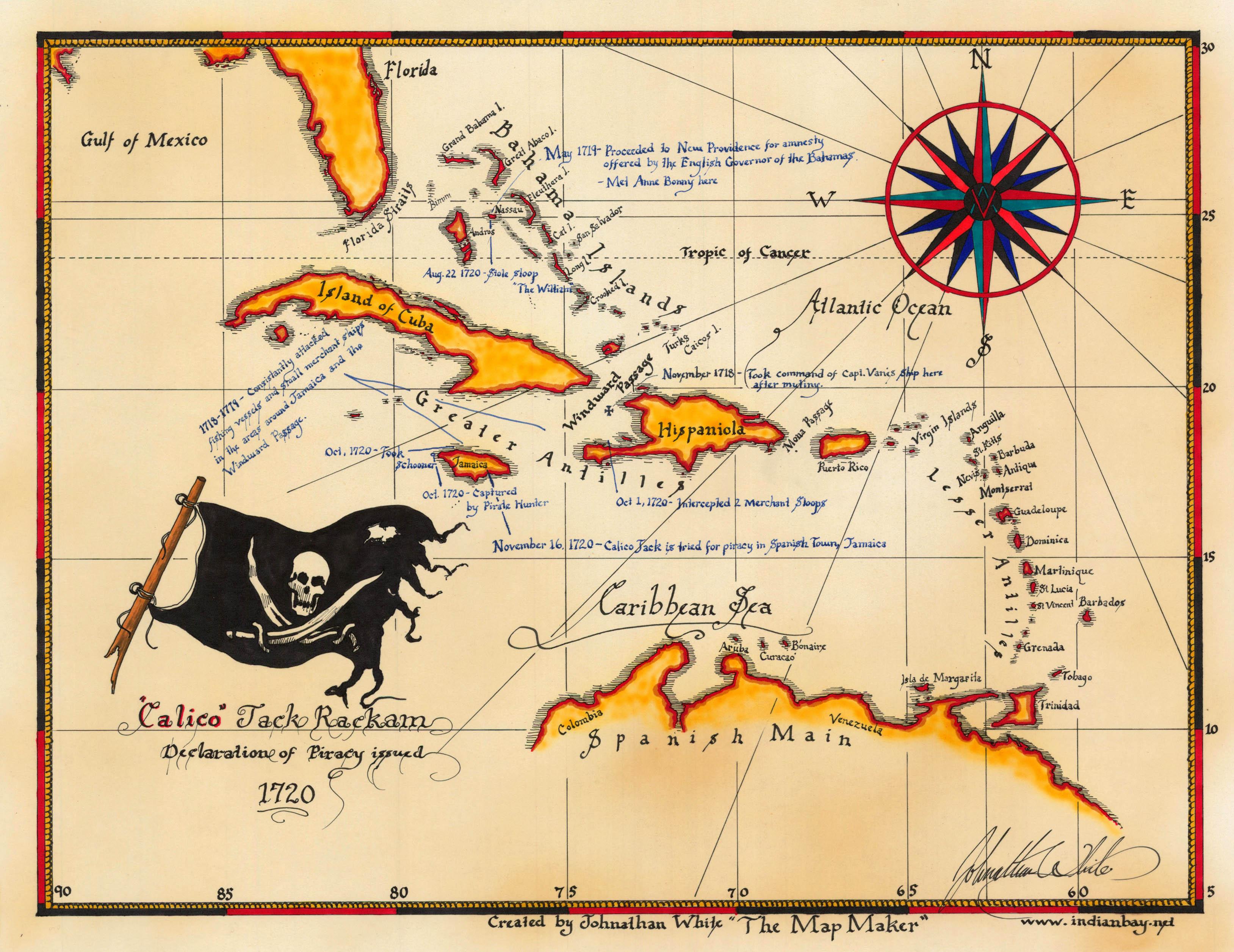 Пираты, карты, карибский, калико джек rackam - скачать беспл.