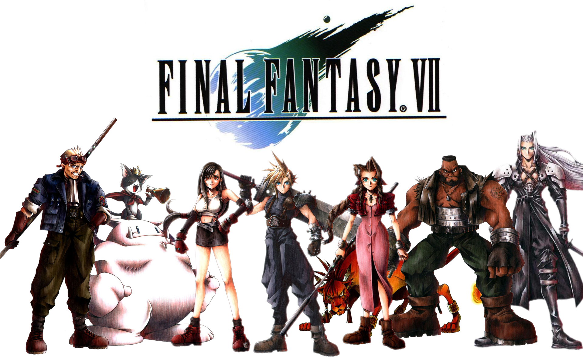 Final fantasy characters wallpaper cloud