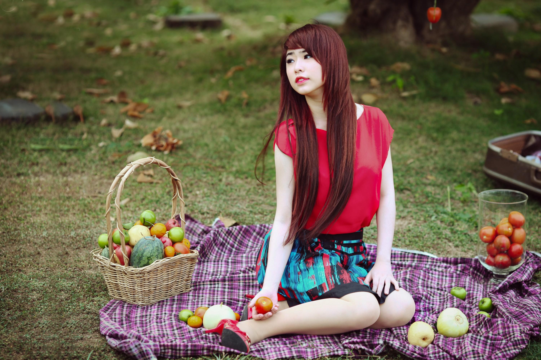 Японские девушки на природе 8 фотография