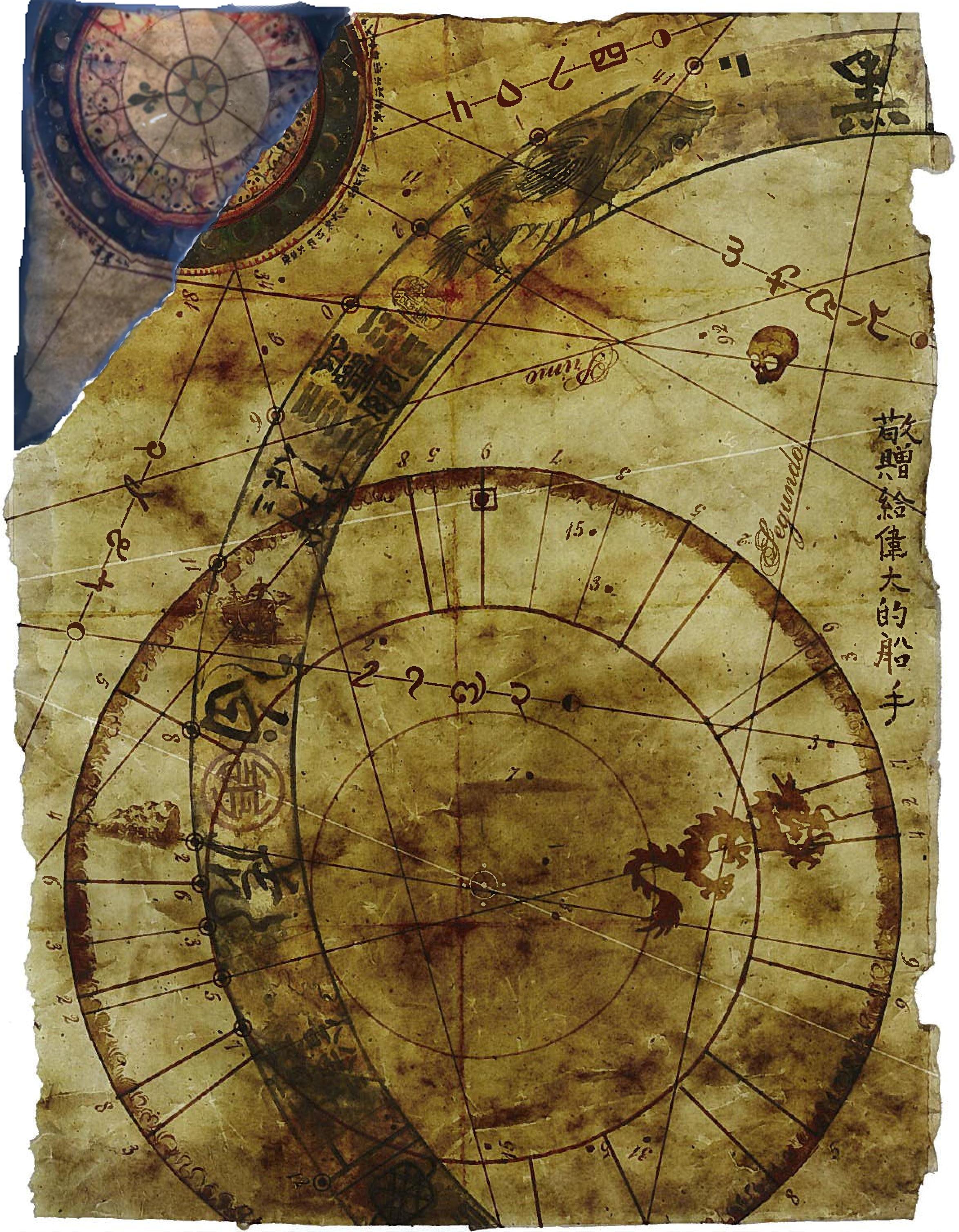 Old parchment map.