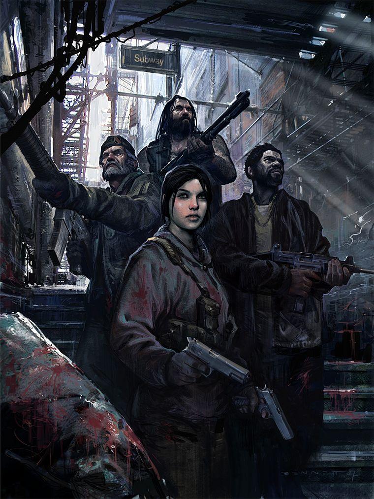 Добавить картинку на сайт. видеоигры, постапокалиптический, кровь, оружие, Left
