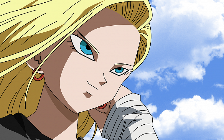 Android, Dragon Ball Z, аниме девушки, Android 18 - обои на рабочий стол