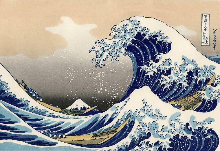 Японский рисунок волн