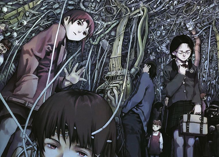 Serial Experiments Lain, технология, Ивакура Lain, аниме - обои на рабочий