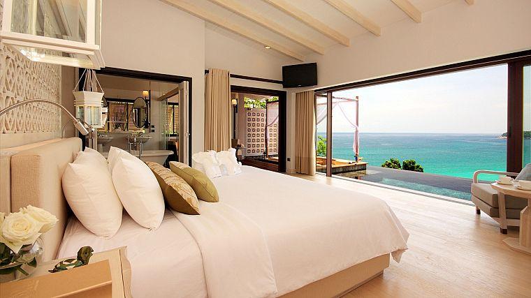 Дом на берегу океана в остров Пиргос