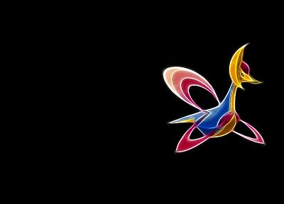 Покемон, темный фон, cresselia - обои на рабочий стол