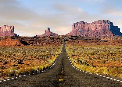 природа, пустыня, дороги, Юта, Маршрут 163 - популярные обои на рабочий стол