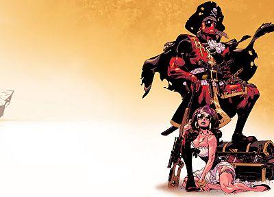 пираты, Дэдпул Уэйд Уилсон, Марвел комиксы - обои на рабочий стол