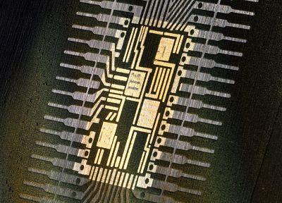 крупный план, микрочип - обои на рабочий стол