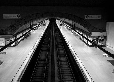 метро, вокзалы, оттенки серого, монохроматический - случайные шпалеры интересах рабочего стола