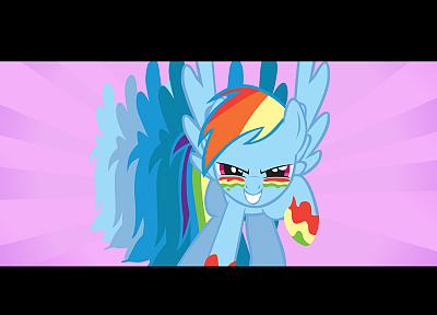 My Little Pony, Рэйнбоу Дэш, простой фон - обои на рабочий стол