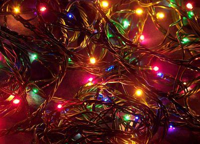 огни, Рождественские огни - обои на рабочий стол