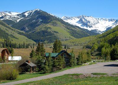 горы, пейзажи, природа, снег - обои на рабочий стол