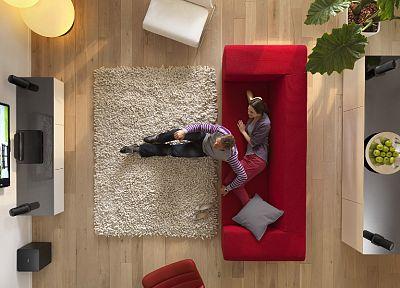 телевидение, диван, домой, интерьер - популярные обои на рабочий стол
