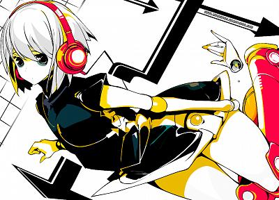 наушники, Beatmania, аниме девушки - обои на рабочий стол