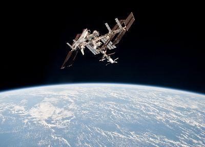 МКС, Земля, космический челнок, НАСА, орбиту, космическая станция, стремиться - популярные обои на рабочий стол