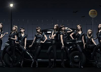 девушки, Girls Generation SNSD (Сонёсидэ), Азиаты/Азиатки, такси - обои на рабочий стол