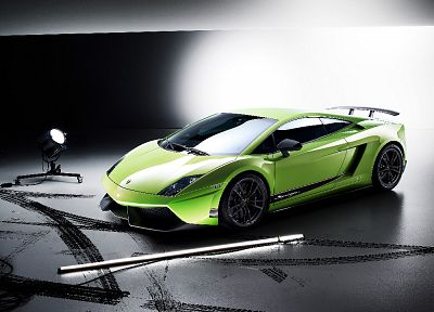 автомобили, Ламборгини, зеленые автомобили, Lamborghini Gallardo Superleggera LP570-4 - обои на рабочий стол
