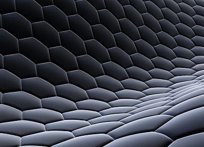 3D облик (3д), абстракции, темнота, дизайн, шестиугольники, цифровое искусство, соты - схожие шпалеры про рабочего стола