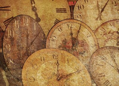 абстракции, многоцветный, часы - обои на рабочий стол