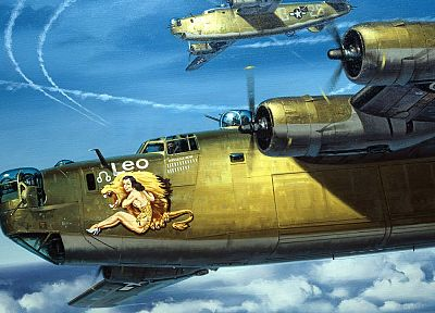 самолет, бомбардировщик, транспортные средства, нос искусство - обои на рабочий стол