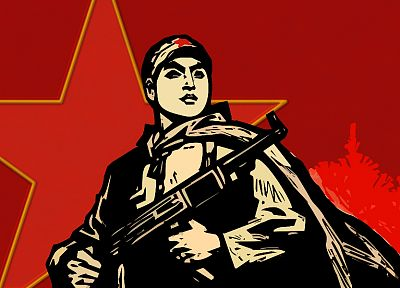 солдаты, коммунизм, звезды - обои на рабочий стол