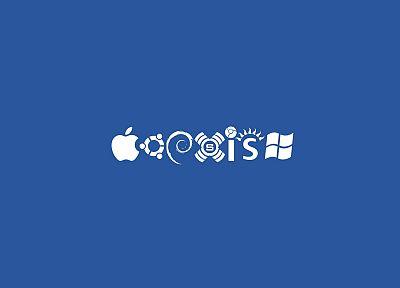 Эппл (Apple), Linux, Ubuntu, Debian, Slackware, Microsoft Windows, операционная система войны, Solaris, Chrome OS - обои на рабочий стол