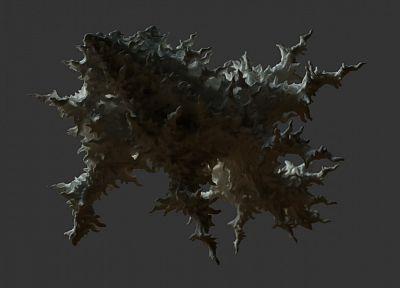 3D наружность (3д), абстракции, фракталы, 0D оказывает, 0D (трехмерный) - одинаковые шпалеры пользу кого рабочего стола
