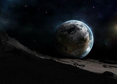 космическое пространство, звезды, планеты, вселенная, путешествие - обои на рабочий стол