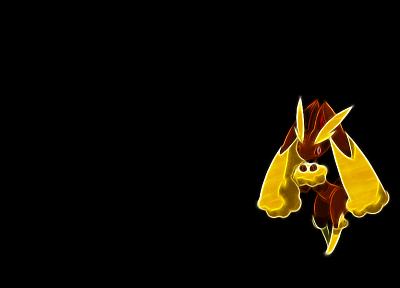 Покемон, темный фон - популярные обои на рабочий стол