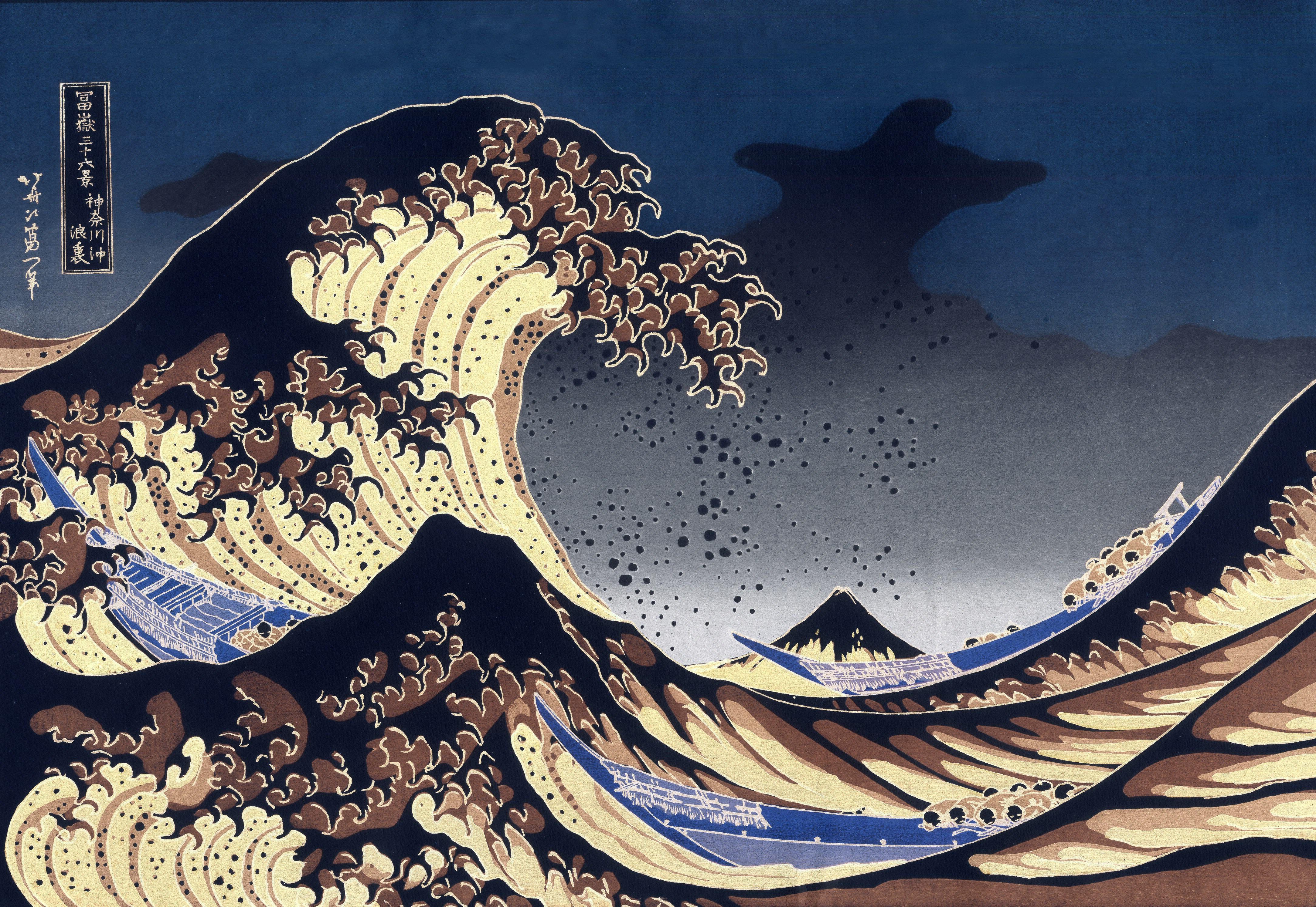Картинки, японская картинка волны