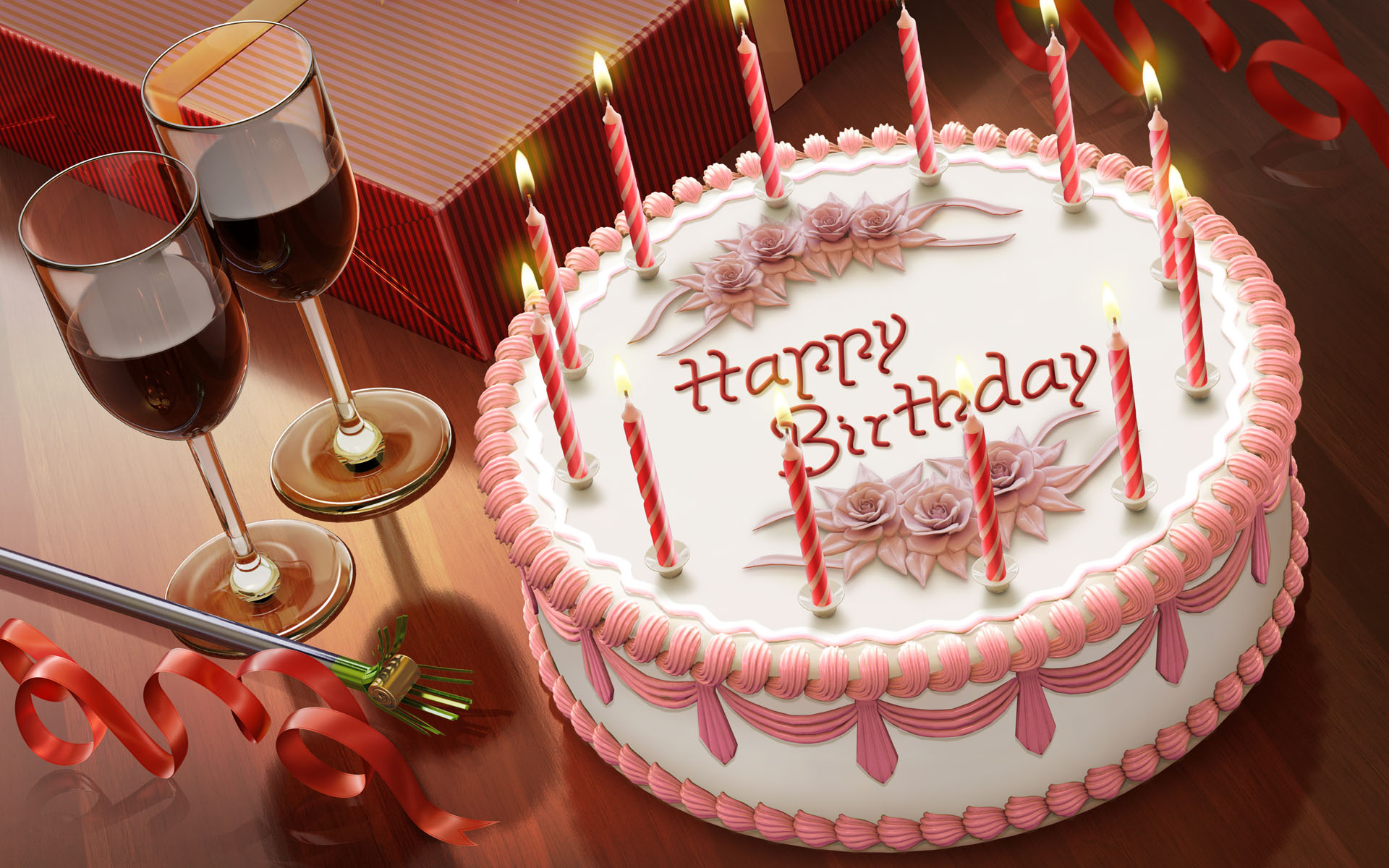 Поздравление с днем рождения картинки тортики