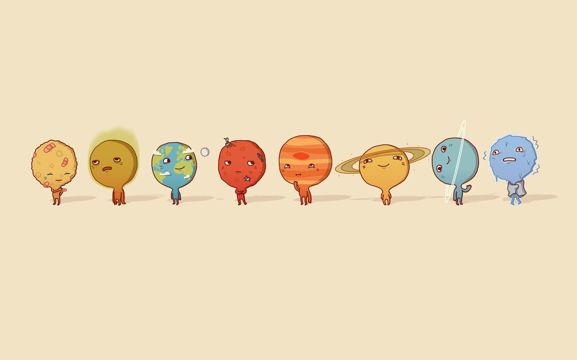 Пожелание, прикольные картинки про планеты
