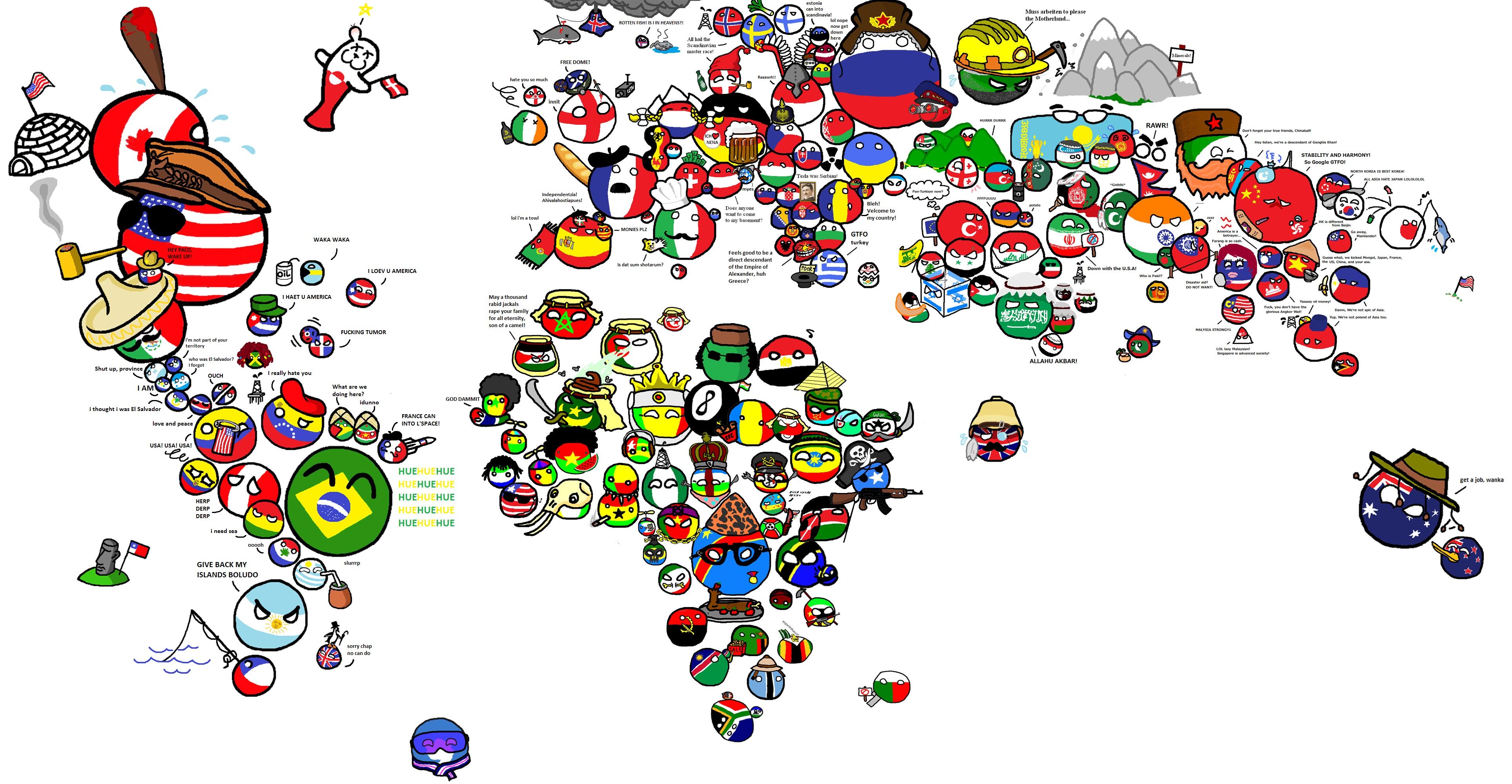 Прикольные картинки про страны мира