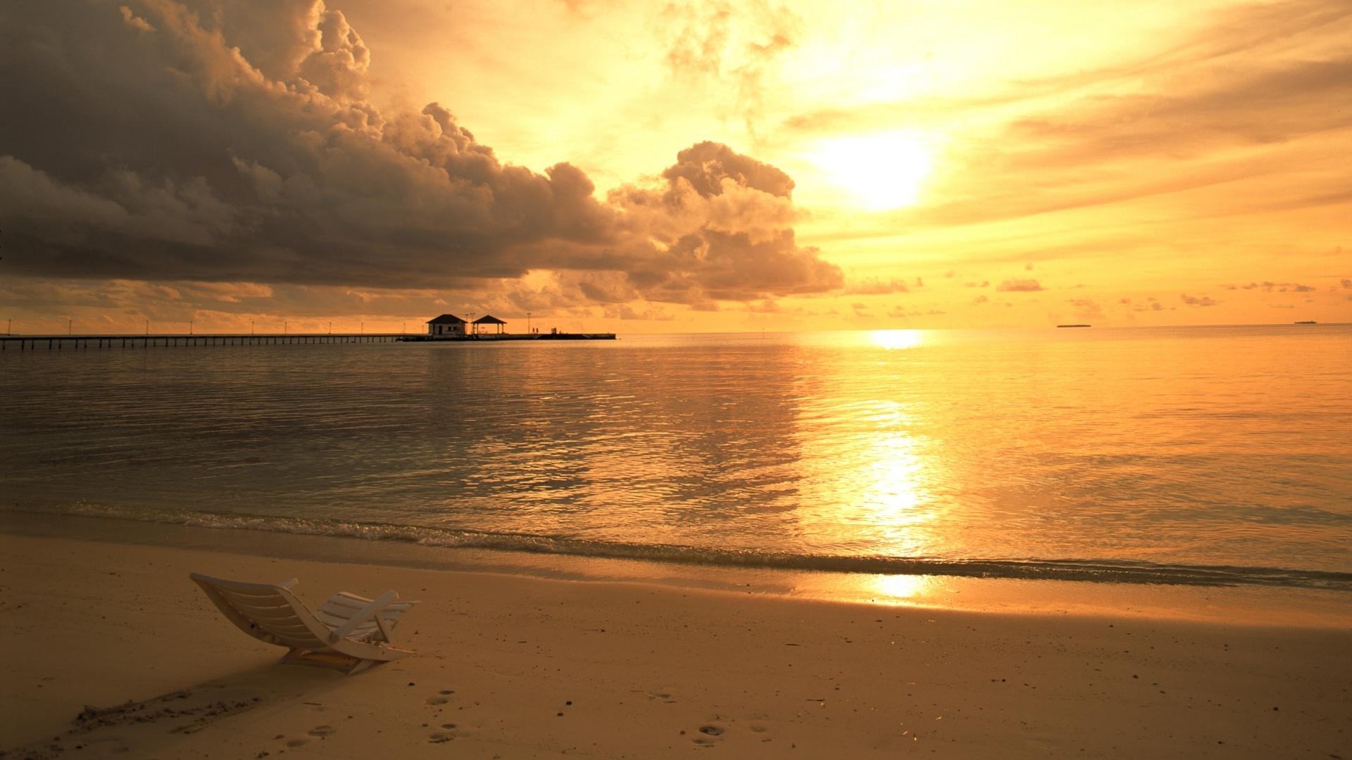 Обои для рабочего стола закаты и рассветы на море