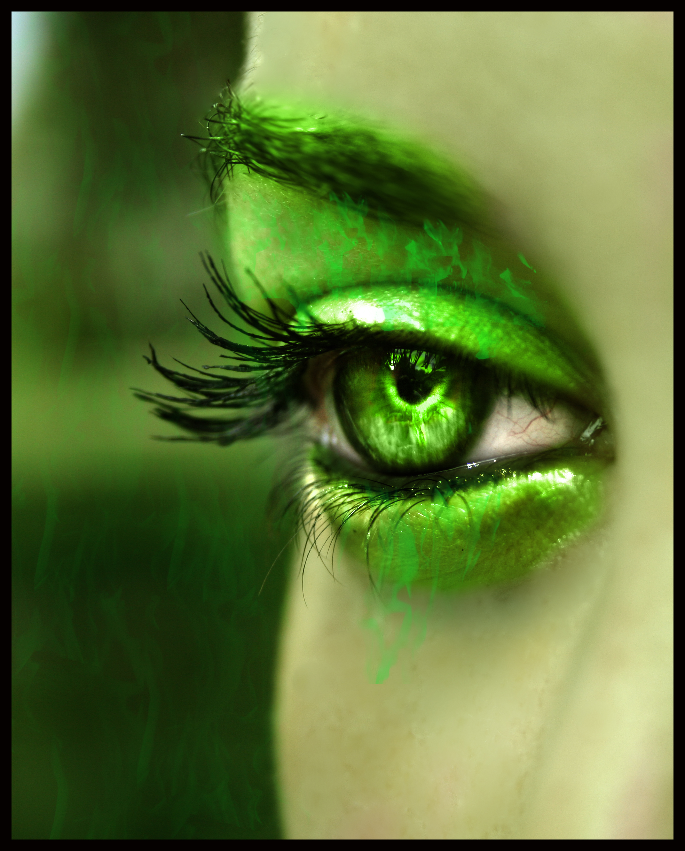 Зеленые глаза картинки прикольные