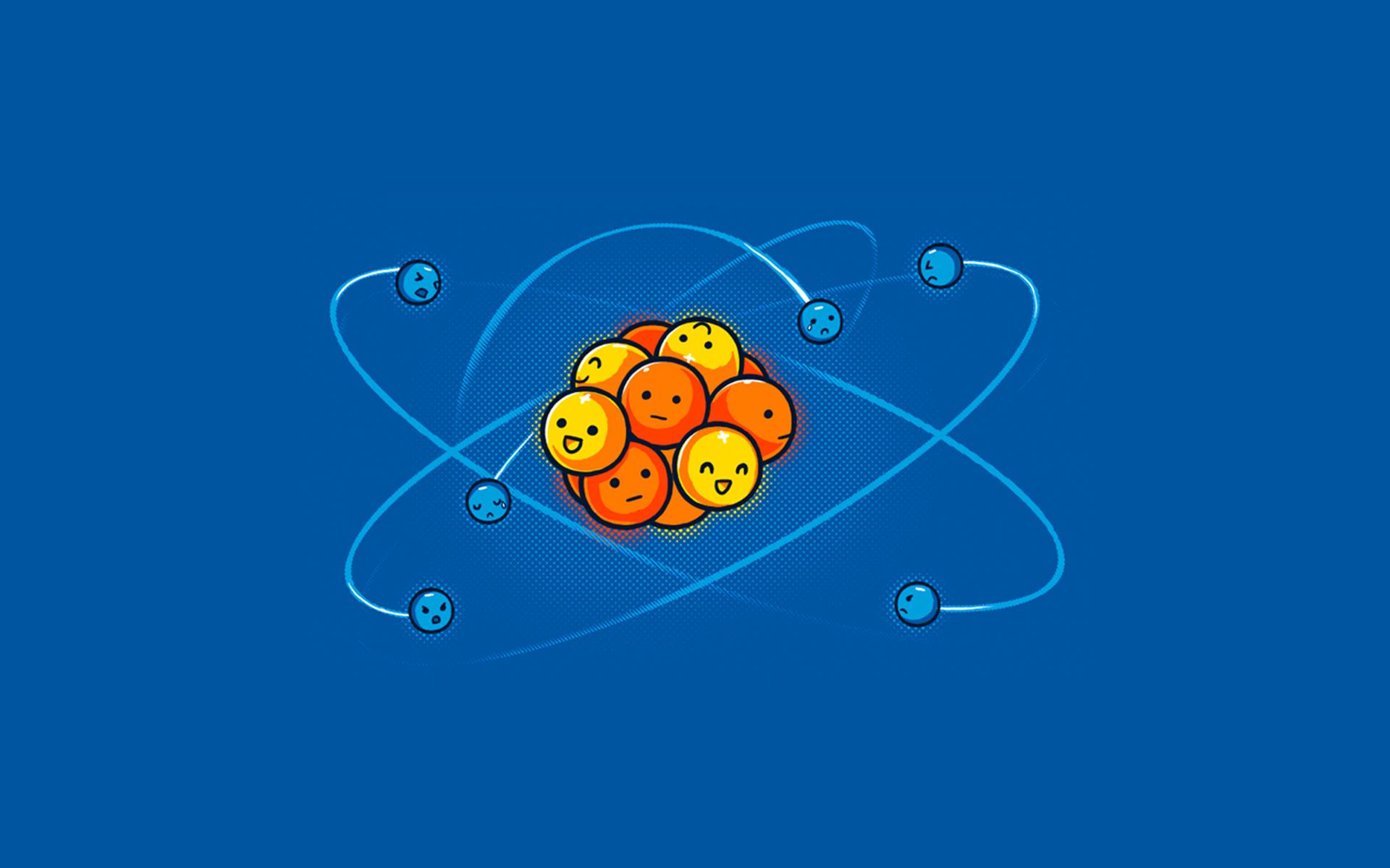 Смешные рисунки молекулы
