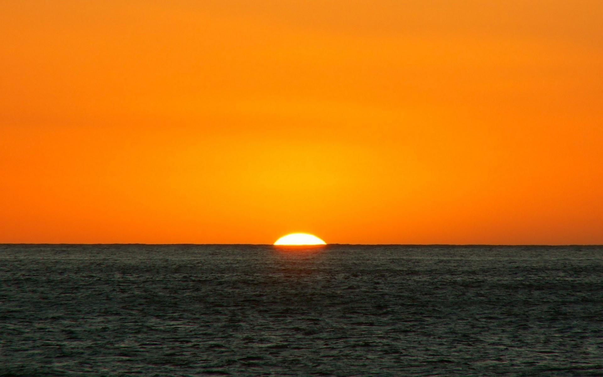 закат, пейзажи, природа, оранжевый цвет, море - Просмотреть, изменить  размер и скачать HD обои / oboi7.com