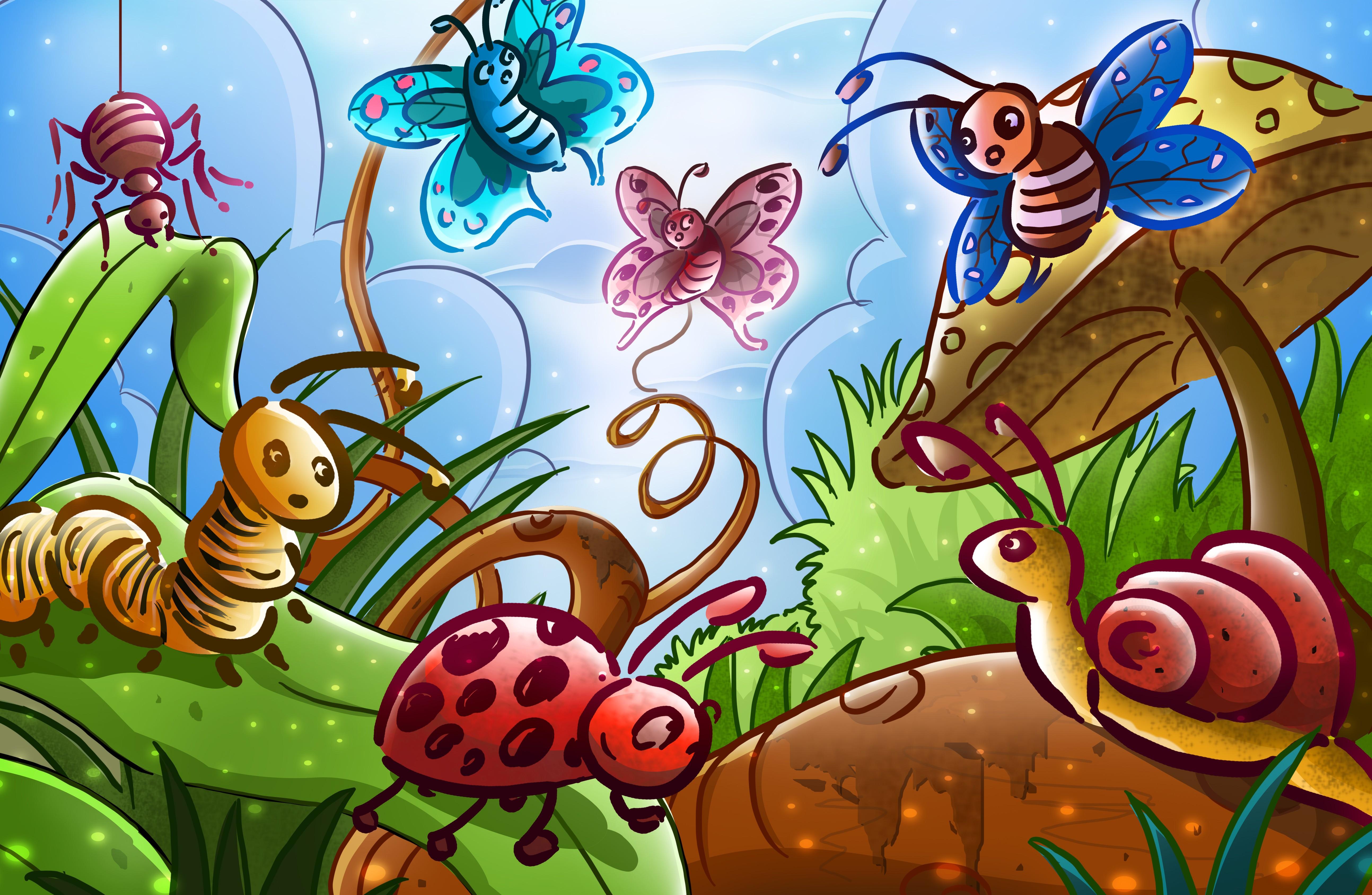 Веселые мультяшные картинки для детей