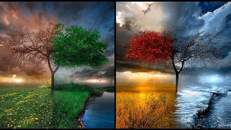 Фото картинки пейзажи лето осень