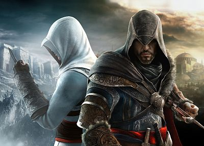 видеоигры, Альтаир ибн Ла Ахад, Эцио, Assassins Creed Revelations - обои на рабочий стол